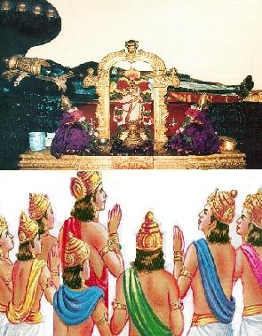 dhevas - worshipping-periyaperumal
