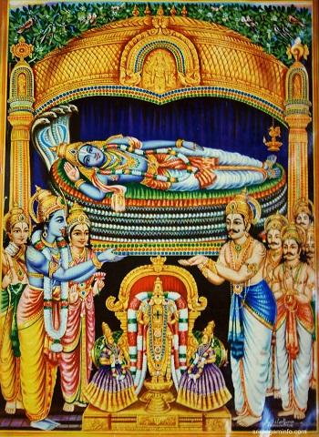 srirangam golden vimana history