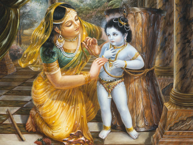 Image result for images of yashoda binding lord krishna