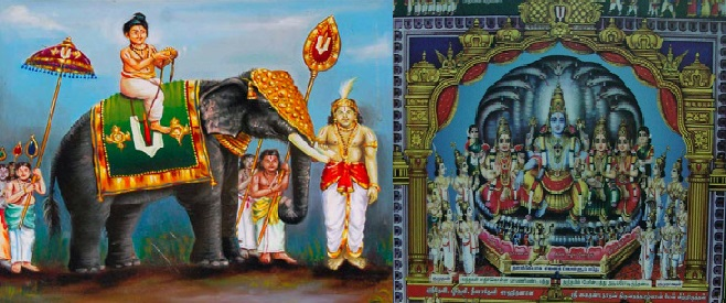 periyazhwar-on-elephant and paramapadhanathan